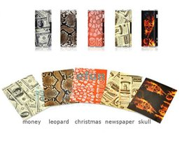 Wholesale Eleaf istick Wrap Sticker Vape Box Wrap Vapor Skin Decal istick Money Leopard Christmas Newspaper Skull istick Stickers