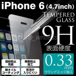 For iPhone for samsung 0.33mm Square Tempered Glass Screen Protector For iPhone6 Screen Guard Film Free Shipping