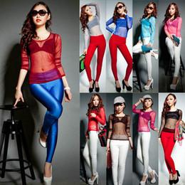 Fashion Sexy Punk Women Transparent T-shirt Sheer Gauze Tops Long Sleeve Blouse 2015 Freeshipping