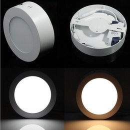 6W 12W 18W Led Downlights Ultra Thin Easy to Install Led surface Panel Lights Warm Natural Cool White AC 110-240V Surface Mounted