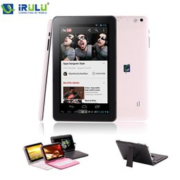 Wholesale iRULU X1 quot Tablet PC Quad Core Android Tablet WIFI Dual CAM External G Download Google Play APP W Case Keyboard New Hot