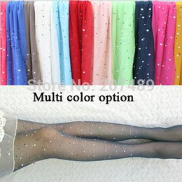 Wholesale thin D new color translucent Rhinestone shiny thin beautiful long velvet socks pantyhose whcn