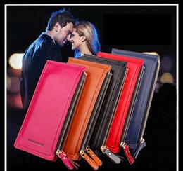 À double bourse de portefeuille en Ligne-Hommes Femmes Purse à main en cuir Wallet double Wallet Zipper Pocket mélangé Water Color Proof Anti Scratch cuir sac à main