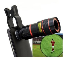 Wholesale Zoom Mobile Phone Telescope Lens for Samsung Galaxy S6 Edge Plus Note iPhone S Plus iPad Nokia HTC Notebook PC etc