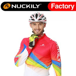 Nuckily New arrival cycling go pro jersey with fleece bicycle jersey best quality long thermal fleece shirt ME013