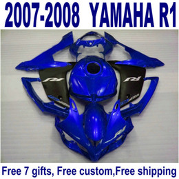 Customize motorcycle parts for YAMAHA YZF R1 2007 2008 matte black blue fairing kit YZF-R1 07 08 fairings set ER89