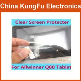 "Wholesale-Promotion!!! 7 inch Clear Screen Protectors Screen Guards Protective Films For For 7"" Allwinner A13 Q88 Tablet Free"