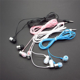200pcs universal crystal cable wire headphones 3.5mm gift earphones for mp3 mp4 CD for Mobile Phone for ipod Samsung Tablet PDA