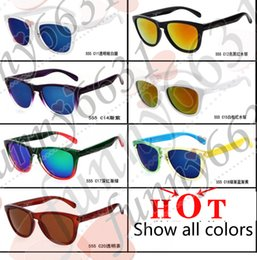 Wholesale brand new women Beach glasses safety goggles cycling sports dazzling eyeglasses men reflective coating sun glass colors