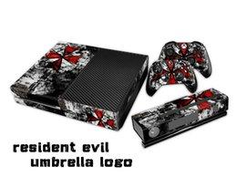 Resident evil umbrella logo Pegatina protectora / Pegatinas para xbox uno Consola + 2 Controllers + Kinect Skin desde controlador de xbox kinect proveedores
