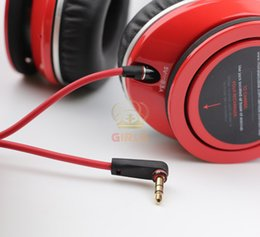 Wholesale 3 mm Replacement Red Cables for Beats Studio Headphones Regular Cable for SOLO MIXR PRO noise reduction studio Headsets we have