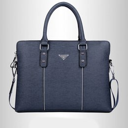 Hot style européen et américain Casual épaule bleu d'affaires Sac en cuir PU Zipper solide Sac Messenger Porte-documents à partir de bleu boston sacs fournisseurs