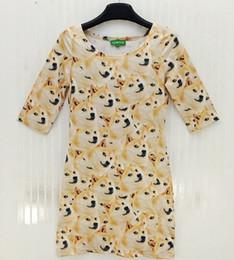 2014 Novelty personality funny 3d Cute puppy dog dress women's summer casual sexy dress plus size women dress