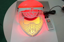 Wholesale Skin Firming Face Mask - Portable Facial Mask Photon LED Skin Rejuvenation PDT 3 color light therapy wrinkle Acne Remover Skin Care anti aging beauty device
