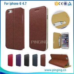 For iphone 6 4.7 leather case, Luxury Wallet Bag card holder case for iphone 6 4.7 Free DHL