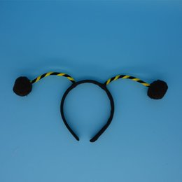 Wholesale Black Bug Ladybird Alien Head Bands Animal Bee Ant Antenna Headband Hallowmas Party Cosply