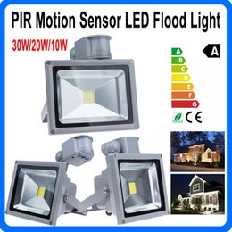 Outdoor Led Floodlight Lamp PIR Infrared Motion Sensor 10W 20W 30W Waterproof IP65 LED Flood Light for Garden Square