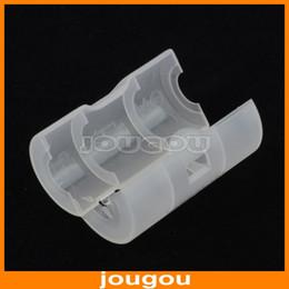 Wholesale AA to C Size Battery Adaptor Holder Case Converter Hard Plastic Case Holder Battery Storage Box