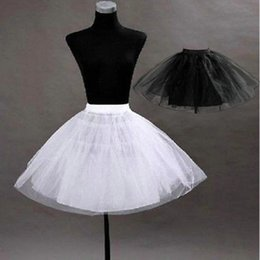 Wholesale New Pretty Tutu Petticoat Underskirt Kid s Accessories In Stock Red Black Girls Pageant Dress Crinoline No Hoop Undergarment Slip CPA274