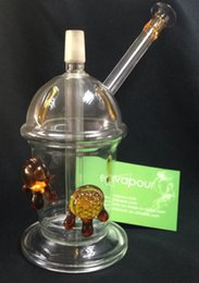 Wholesale Dabcano Cup Glass Oil Rig Water Pipe Newest Glass Bong with Tortoise mm Con Water Pipe Drink Cup Glass Amber Dripping with Amber Tortoise