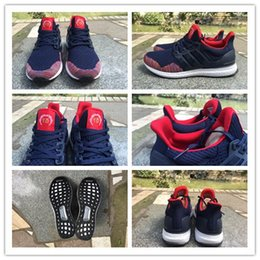 Wholesale Originals Ultra Boost Chinese New Year AQ3305 Men s Sports Running Shoes Midnight Navy Red Size
