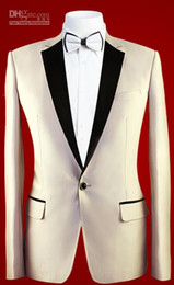 Real Photo 3 pieces Groom Tuxedos Notched Lapel One Button Groomsmen Men Blazer Wedding Clothinf Prom Suit(Jacket+Pants+Tie)