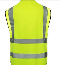 2017 m seguridad Venta al por mayor de alta calidad del chaleco tráfico chaleco reflectante de seguridad para los trabajadores y saneamiento verde y naranja de seguridad ropa talla S M y L presupuesto m seguridad