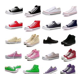 Love shoes!2015 Factory promotional price !New Drop Shipping New Unisex Low-Top & High-Top Adult Women's Men's Canvas Shoes 13 colors