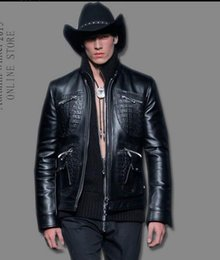 Wholesale 2016 Autumn male jacket slim thin outerwear motorcycle leather clothing stand collar top men PU leather jacket