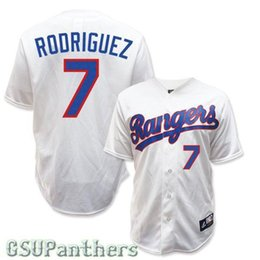 2015 New Cheap IVAN RODRIGUEZ 7# Texas Rangers 1993 Cooperstown Throwback Baseball Jersey grey red white blue various styles More color