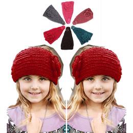 Autumn Warm Crochet Beanies Headbands girl Head Wrap Turban Bandanas Hats fashion hair accessories headwear D688J