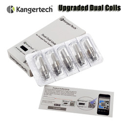 Wholesale 100 Original Kanger Upgraded Dual Coils for kangertech aerotank mega mini protank evod glass T3D Genitank Atomizers
