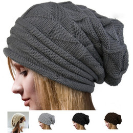 Knitted Hats for Mens Women Baggy BeanieS Oversize Winter Hat Ski Slouchy Chic Cap Skull Hot Freeshipping