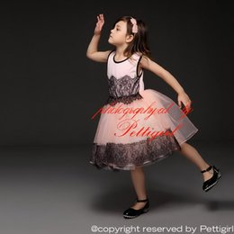 Pettigirl Girls Princess Dress 2016 Summer Pink Children Lace Tulle Tutu Dress Flower Black Mesh Vest Party Dress Kids Clothing GD50312-5