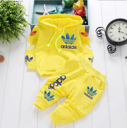 Wholesale 0 Y cotton newborn baby boy clothes baby girl clothing set suit toddler bodysuits products for children sport spring Free
