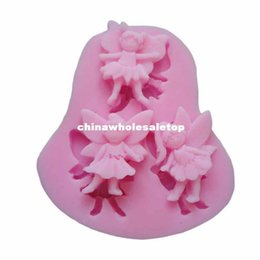 Wholesale Essential Novelty D Angel Modeling Silicone Fondant Cake Molds Soap Chocolate Mould