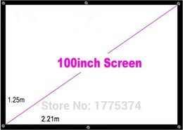 Wholesale 100 inch Simple Projector High definition Screen Portable White Curtain