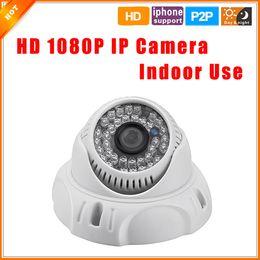 2017 dôme intérieur caméras ip ONVIF 2,0 Nuit intérieur caméra dôme IP 1080P 2.0MP Vision infrarouge caméra de sécurité P2P Plug and Play IP Cam abordable dôme intérieur caméras ip