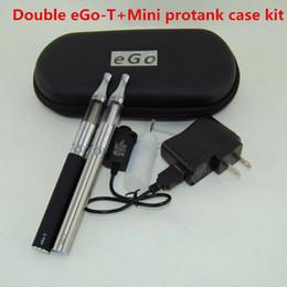 Ego T Double vape pens Starter Kit Electronic Cigarettes Mini Protank Vaporizer 650mAh 900mAH 1100mAh Ego-T Batteries E Cigarette case kits