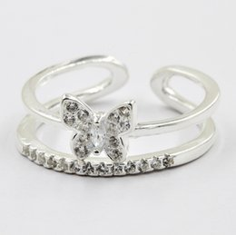 Wholesale 925 silver ring with butterfly with competitive price for hot sale