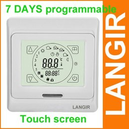 Wholesale E91 touch screen underfloor heating thermostat for good quality with floor sensor M