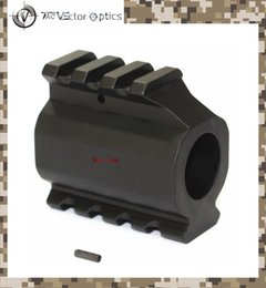 "TAC Vector Optics Slant Style Low Profile Dual Picatinny Rails Gas Block for .223 Rem 0.75"" Barrel Mount with Roll Pin"