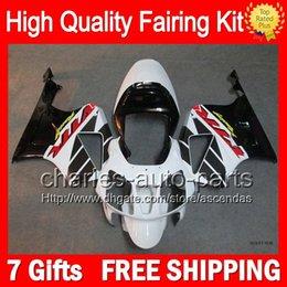 7gifts+Bodywork For HONDA VTR1000 White black 2000 2001 2002 2003 07 46LC76 VTR1000R RC51 SP1 SP2 Black RTV1000 VTR 1000 00-07 Fairing Kit