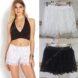 Wholesale New Women Shorts Elastic High Waist Lace Shorts European Fashion Short Pants SV003768
