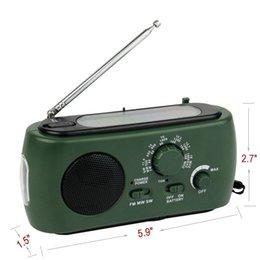 Wholesale Multifunction FM AM SW Radio Solar Flashlight Crank Power Emergency Charger Y4343G