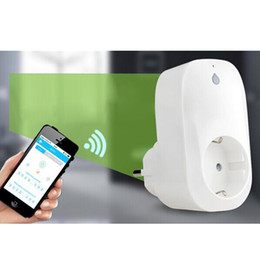 Wholesale New Portable Free APP Wi Fi Home Offices Automation Smart Wireless Intelligent Power Socket for Android and IOS wifi EU Plug