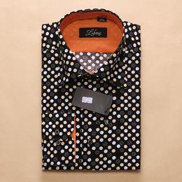 Wholesale-2015 Brand New Flower Printing Shirt Men's Long Sleeve Shirts Floral Men Dress Shirts Casual Plus Size S-XXL camisa masculina