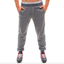 Wholesale-2015 Mens Pants Personality Casual Elastic Waist Loose Cargo Harem Baggy Hip Hop Dance Sport Pant Trousers Male Sweatpants