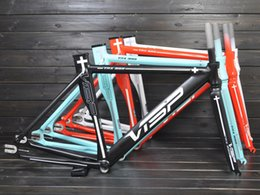 Wholesale Fixed Gear Frame Bicycle Bike Cycling Frame Invisible Welding Frame Set and Fork C Bicycle Frame and Fork VISP TRX999