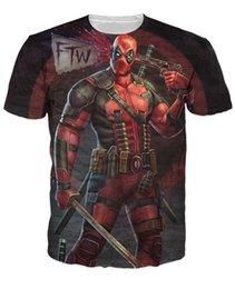 Wholesale Deadpool T Shirt badass beautifully Deadpool the Marvel comic book series Cartoon Characters Women Men t shirt Tops Tees